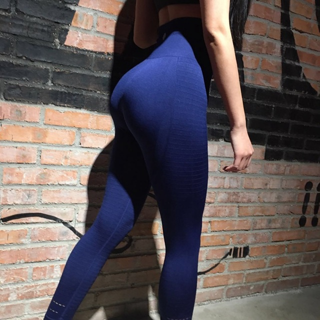 Lucylizz Women Yoga Pants Fitness Sports Leggings Running Tights Sportswear Push Up Pants Gym Clothing Mesh Athletic Trousers