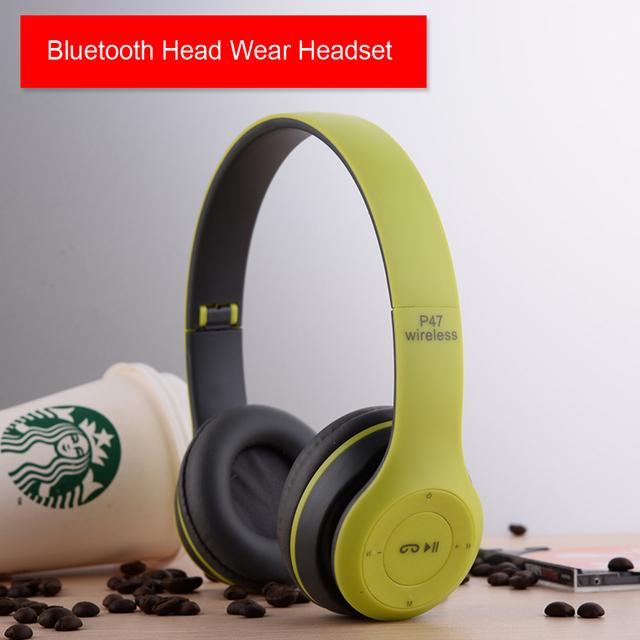 P47 Diadema Auricular de Cancelación de Ruido Auriculares Bluetooth 4.1 Auriculares Inalámbricos Manos Libres Portátil Plegable Deporte Auriculares