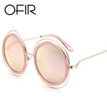 540c80825d OFIR 2017 Women Sunglasses Quality Big Brand Designer Metal Round Wire Frame  Eyeglasses Vintage Oversize 2018