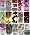2014 coruja asteca elefante flor macio tpu silicone case para samsung galaxy alpha g850 s801 g850f phone cases cubra shell
