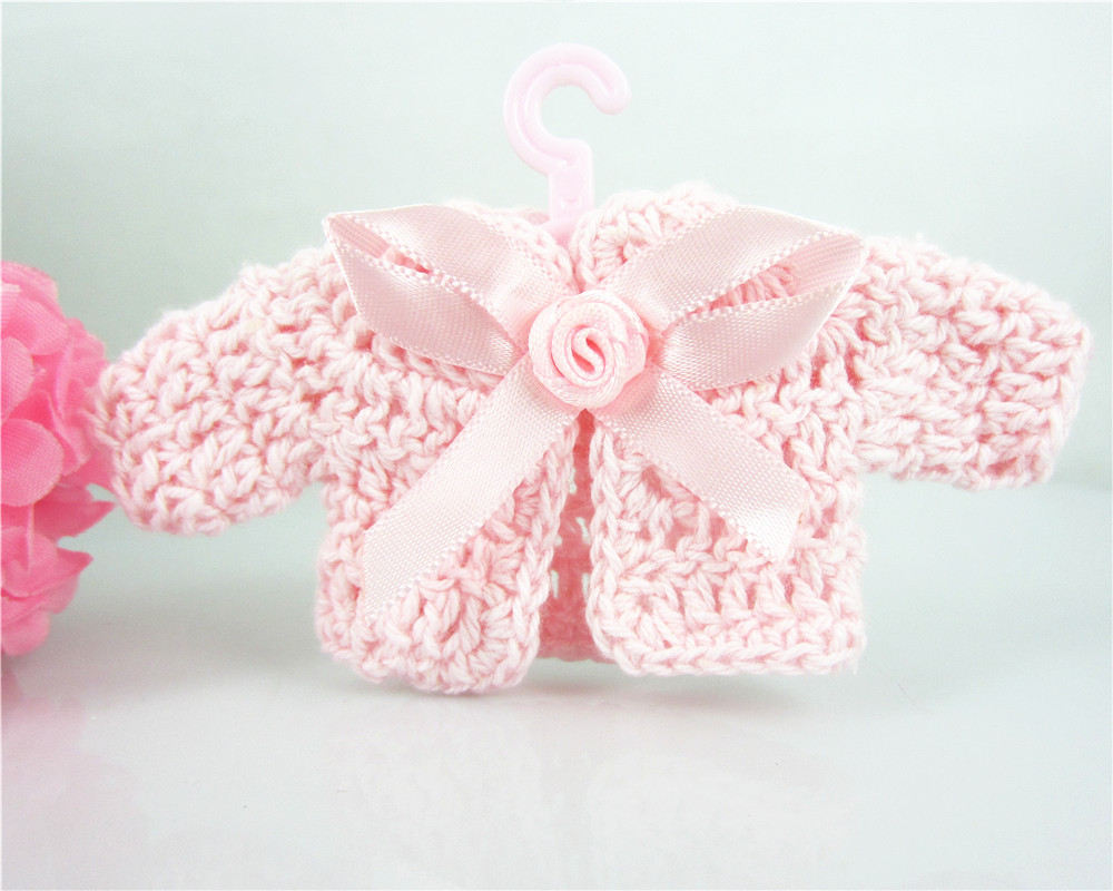 free shipping 12 baby shower baptism party favors miniature crochet