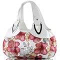 Мода Корейской сумки красивая кожа Женщины ИСКУССТВЕННАЯ Сумка Сумка Печати Цветок Сумки шесть стиль Сумка падение D30