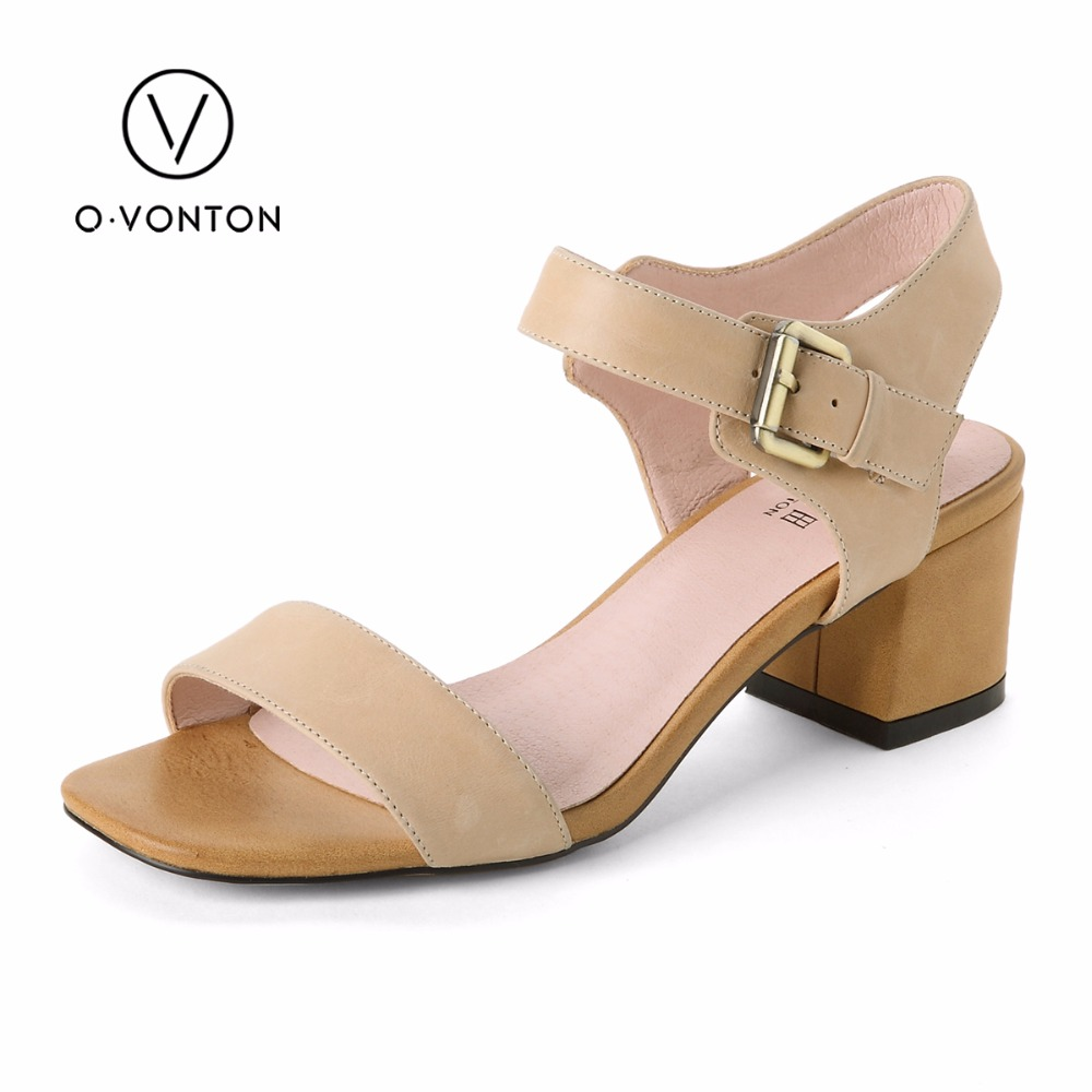 Women Sandals Genuine Leather Heeled Shoes Woman Strap Band Open Toe Middle Heel Comfortable Wedge Summer Shoes for ladies vtota summer pep toe sandals women increased thick heel shoes woman wedge summer shoes back strap platform shoes for ladies