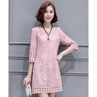 Wholesale High Quality 2017 Spring And Summer Half Sleeve Lace Dress Korean Version Of Slim Hollow
