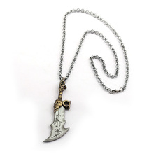 Game God Of War Necklace Sword Blades of Chaos OLYMPUS KRATOS Necklaces Jewelry Classic Weapons Pendant for Men god of war chains of olympus