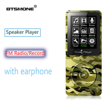Btsmone MP3 player built-in 8G and Speaker HIFI lossless music Recorder and FM Radio expand memory up to 128G mini Sport walkman