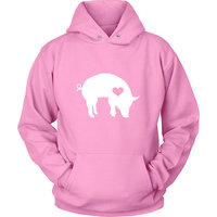 Hug your Pig hoodie / Pig hoody Bacon Lover Piglet gift /Hog lover Piggy clothing barn birthday party ham sweatshirt Z204