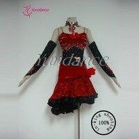 2016 Hot Sexy Red Custom Girls Latin Dance Dress For Sale L 11182