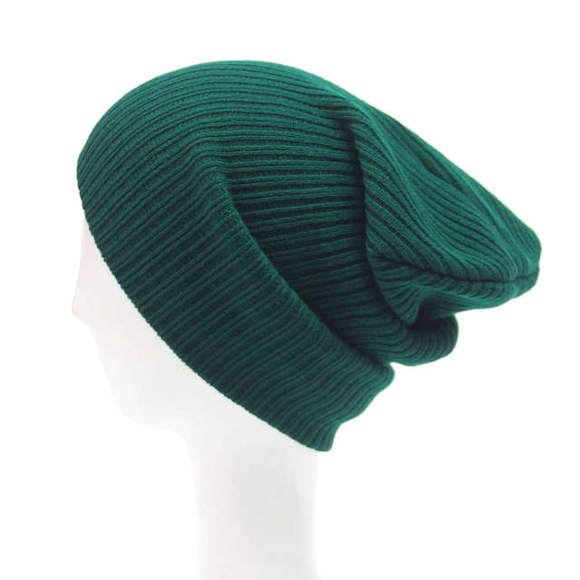 26ac4e87 Navy Blue Dark Green Black Knit Hat Crochet Mens Slouchy Beanie Winter  Skull Caps for Men and Women -in Skullies & Beanies from Apparel  Accessories on ...