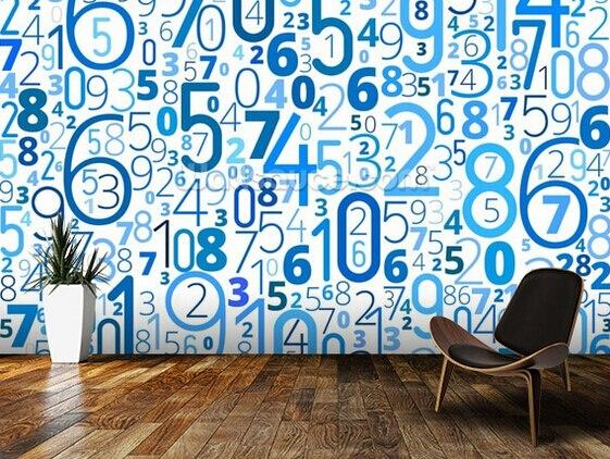 Custom 3d modern wallpaper numbers murals for the bedroom - Number wallpaper ...