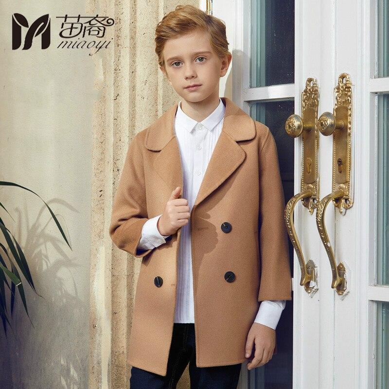 Фото 2018 autumn and winter new boy wool coat boy Korean fashion children long section woolen jacket or coat