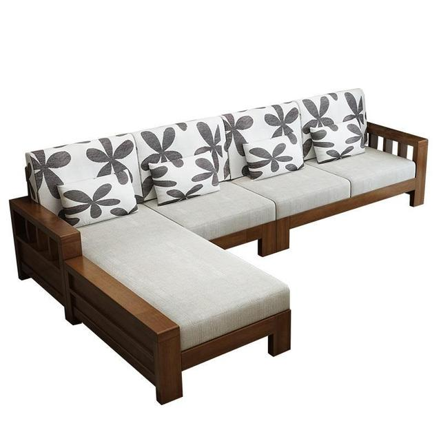 Meble Do Salonu Puff Futon Home Copridivano Oturma Grubu Mobilya Wooden Retro Set Living Room Furniture