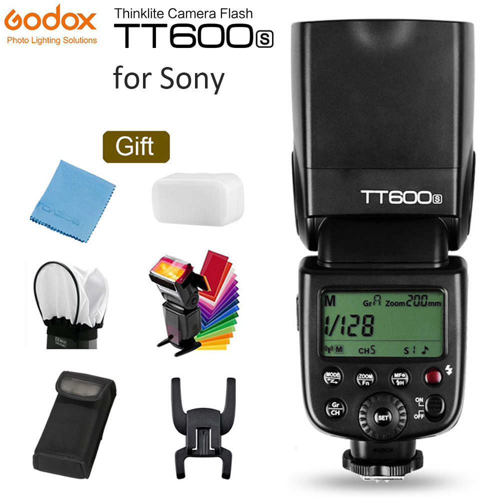 GODOX TT600S GN60 Flash Light Master Slide Speedlite 2.4G Sistemi Wireless X për Kamerën Sony DSLR A7S A7 A7R II A7MII A6000 A6300