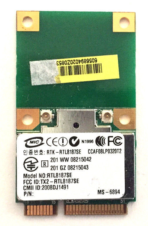 Беспроводная карта адаптера для AzureWave AW-GE703 RTL8187SE 150 Мбит/с Mini PCIe PCI-Express Wlan