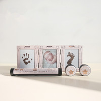 Baby Birth anniversary set hands and feet prints tooth box curl box certificate holder Baby anniversary souvenir gifts
