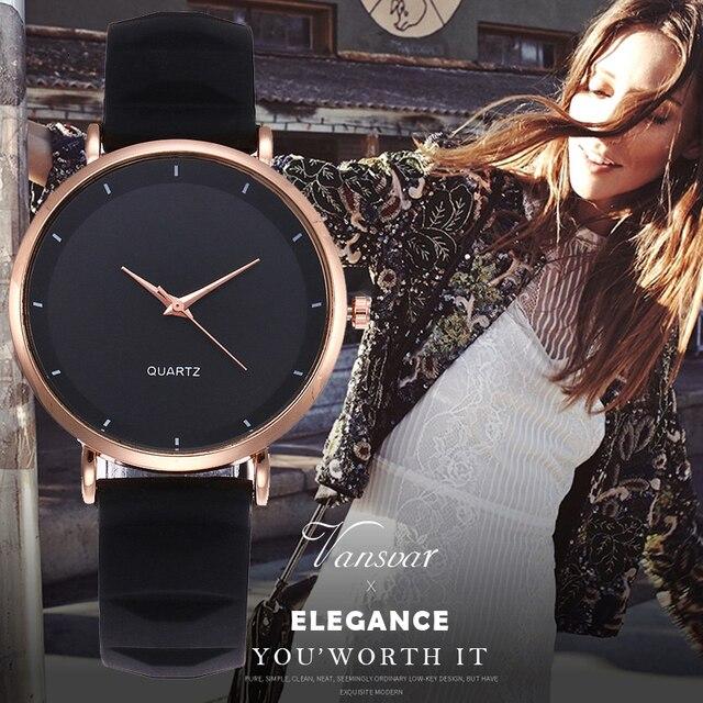 Vansvar Fashion Jelly Silicone Women Watches Luxury Brand Casual Ladies Quartz C