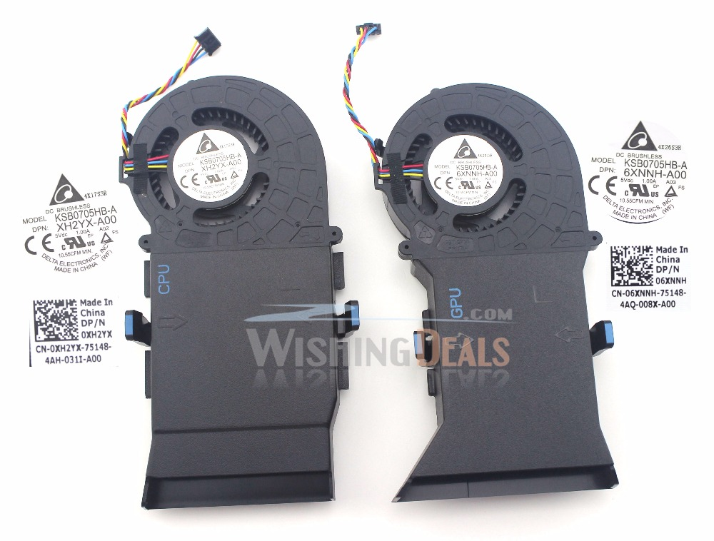 Value for money!!! New for Dell Alienware Alpha R2 06XNNH CPU & GPU cooling fan 1 pair 4 pin-in