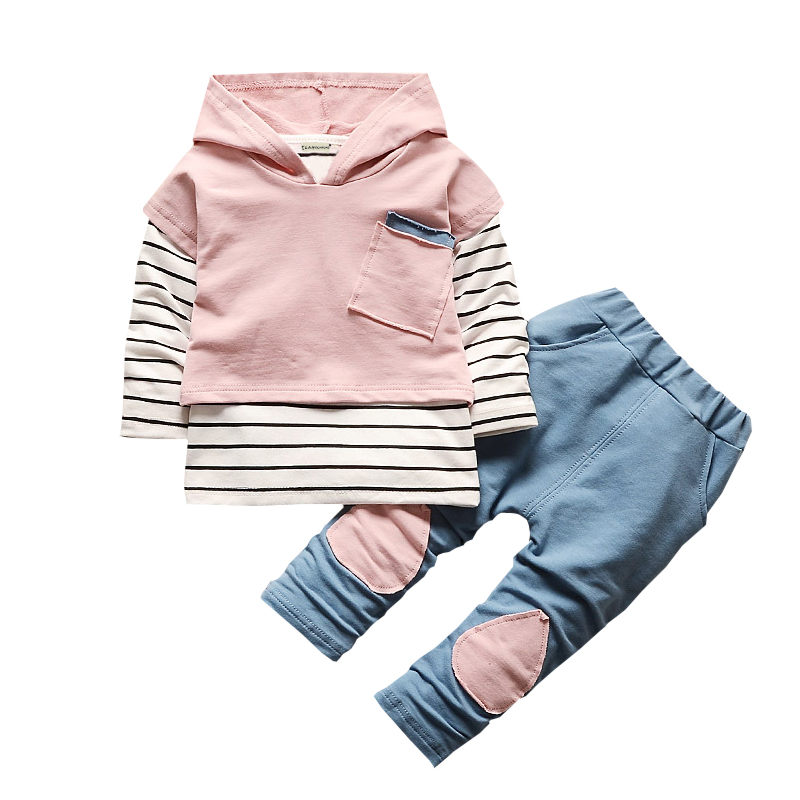 2017 Autumn Winter Kids Boys Clothes Set T-shirt+Hoodie+Pant 3pcs Outfits Children Clothes Sport Suit For Girls Clothing Sets