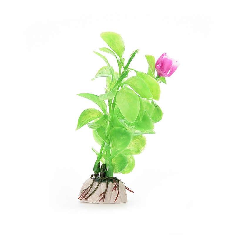 Sıcak satış 1 adet akvaryum bitkiler balık tankı süslemeleri kullanılan ev ve ofis için akvaryum simülasyon plastik bitkiler