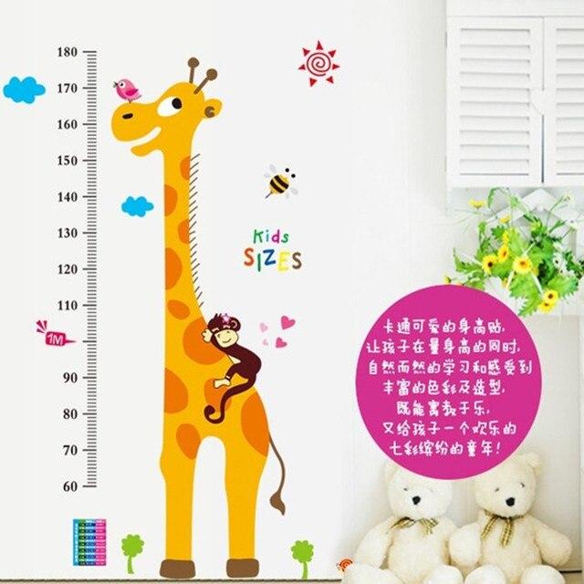 removable wall stickers foot tall giraffe cartoon children's room