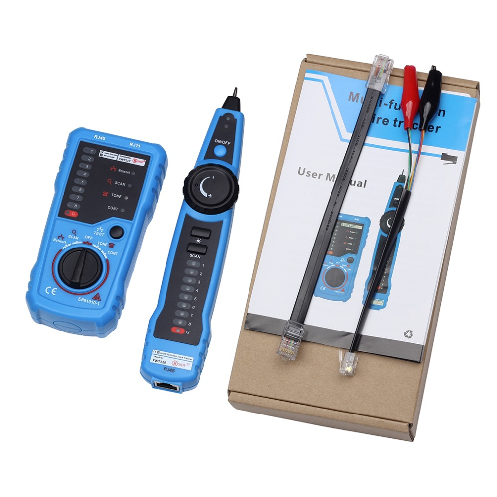 RJ11 RJ45 Cat5 Cat6 Telephone Wire Tracker Tracer Toner Ethernet LAN Network Cable Tester Detector Line