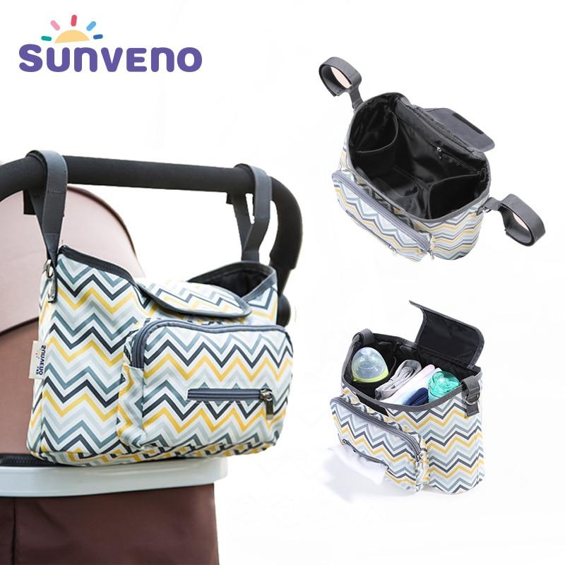 SUNVENO Brand Portable Baby Bag Multifunction Stroller Bag Messenger Large Nappy Diaper Bag For Mom Fashion Organizer Design