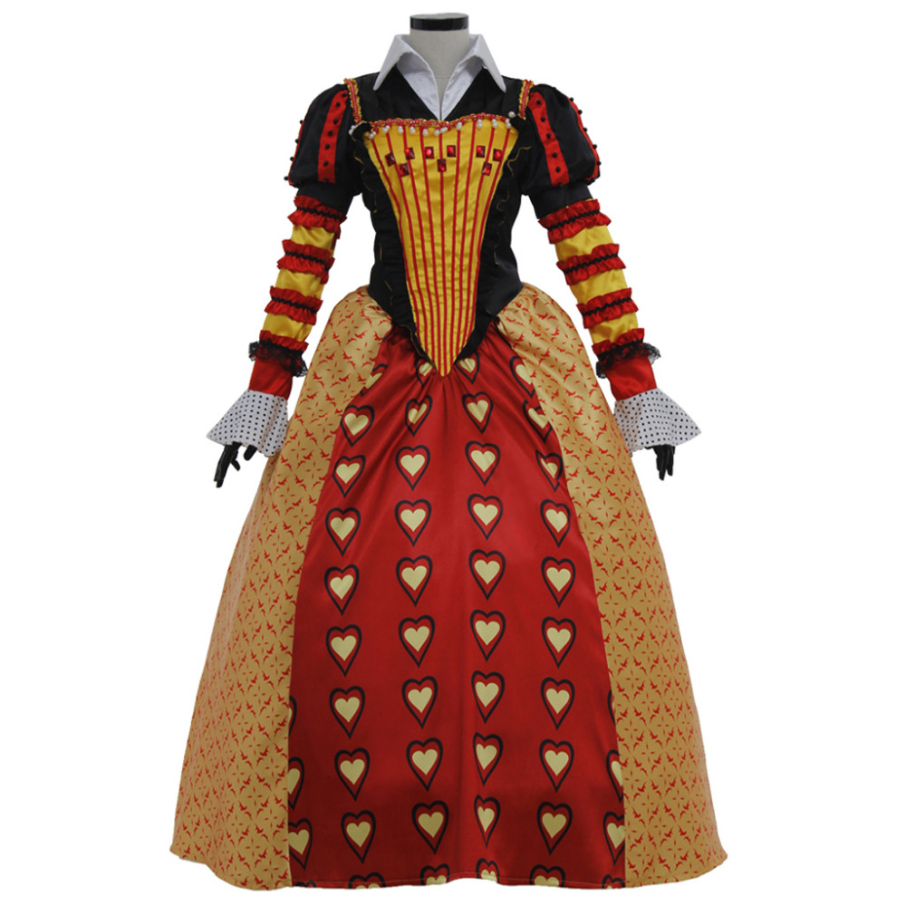 Alice In Wonderland Cosplay Queen Of Hearts Dress For -8206