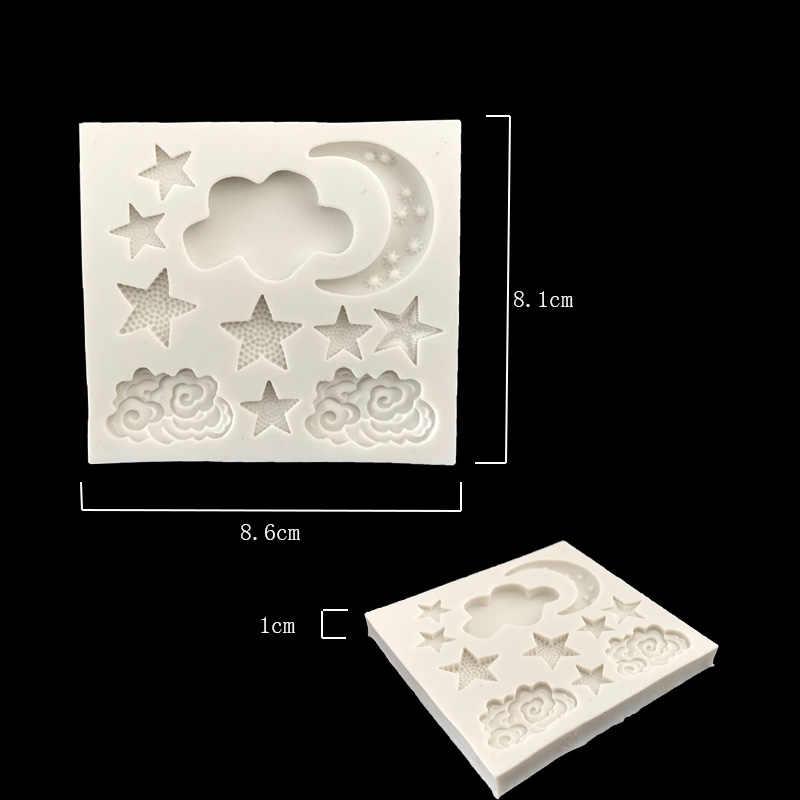 Aouke نجمة القمر شكل قالب من السيليكون لتقوم بها بنفسك قالب الكعكة فندان غائر الشوكولاته قالب الخبز الأجهزة