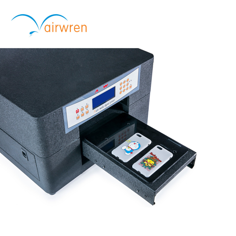 A4 Print Size Mini 6 Uv Flatbed Printer Digital Printing Machine