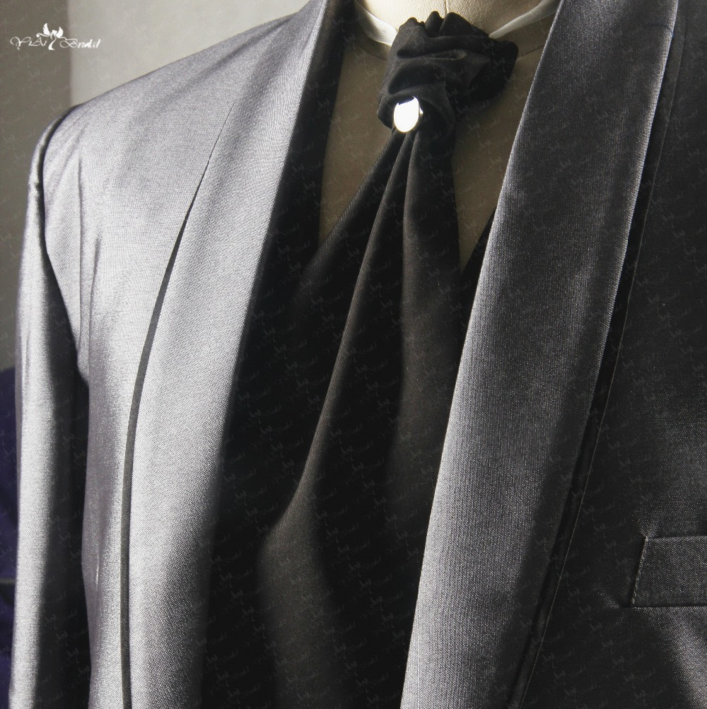 Tragen Grooms Rsj135 Italienische Hochzeit Anzug Männer Grau Anzug Schwarze Krawatte Um Eine Reibungslose üBertragung Zu GewäHrleisten