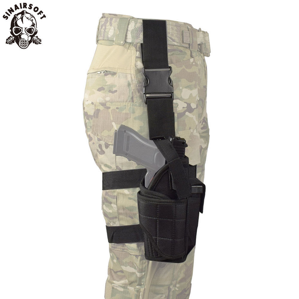 რეგულირებადი Airsoft Holster Hunting Tactical Tornado Multiple Pistol Drop Leg Holster For Right Hand Thigh Gun Holster For Glock
