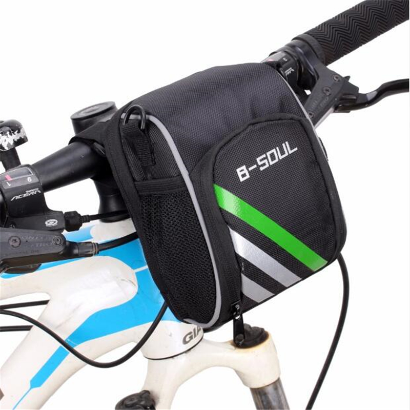 2017 New Bicycle Bags Bike Cycling Outdoor Waterproof Polyeste Front Basket Pannier Frame Tube Handlebar Bag Black Include Strap