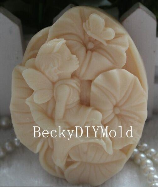 engros !!! 1stk New Style Lotus Angel (Z16) silikon håndlaget såpe - Kunst, håndverk og sying