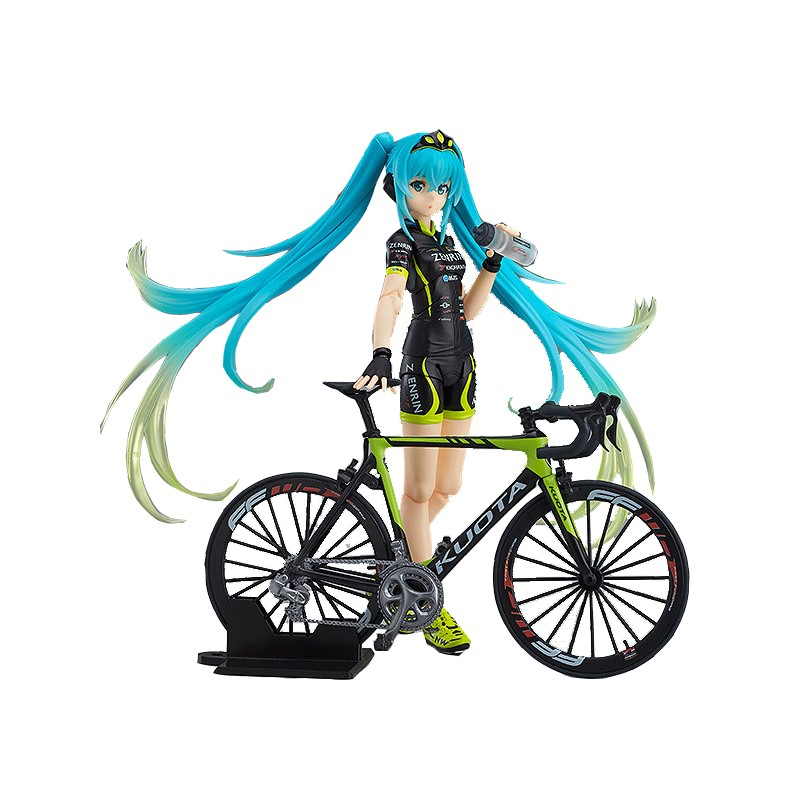 SAINTGI Hatsune Miku cycle racing PVC 14CM Action Figure Collection Model Dolls Kids Toys стоимость