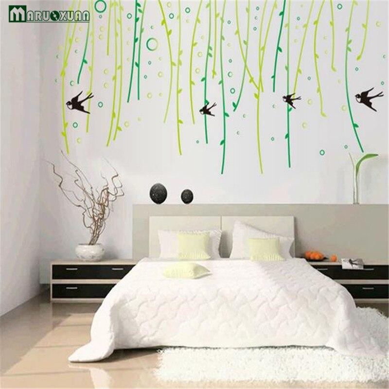 Good cool verde liu yan vento salice decorazione della parete adesivi divano parete del - Camera da letto del papa ...