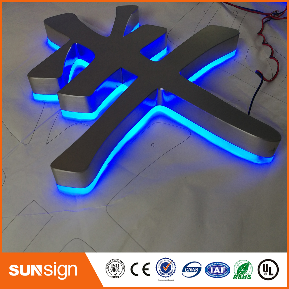 Channel-Letter-Signs Shop Custom-Made Outdoor 3D Waterproof for Name Back-Lighted Stainless-Steel