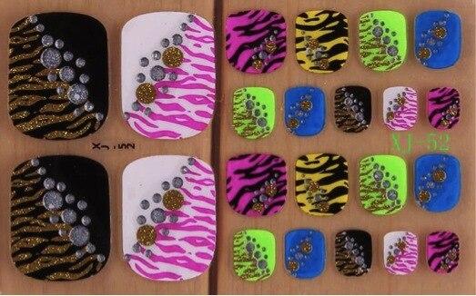 Hot Sale Colorful Toe Nail Polish Sticker Wraps 3D Nail Art Decoration  Patch Toe Nail Wraps