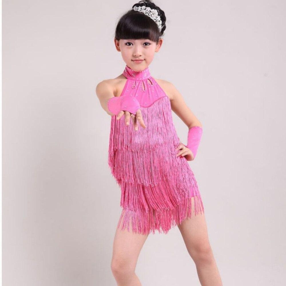 Hot Kid chica Salsa del salón de baile del vestido de la borla ...