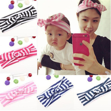 1 pc Women Fashion Elastic Stretch Plain Zebra stripes Rabbit Bow Style Hair Band Headband Turban HairBand hair accessories