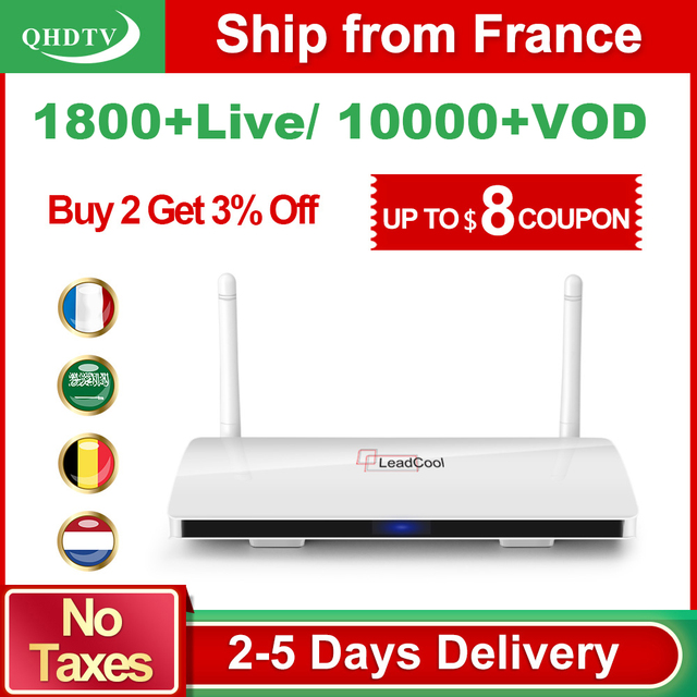 Leadcool QHDTV Arabic France IPTV 1 Year IPTV Subscription Receiver Android Rk3229 QHDTV Code IPTV Belgium Netherlands France