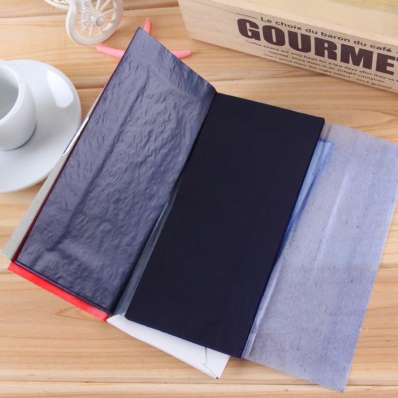 48k 97Sheets Blue + 3 Red Color Carbon Paper  Ones Double Sided Copy Paper 85x185mm Office Accounting Documents File Bill 9370