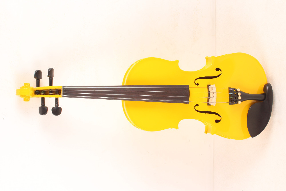 4-String 4/4 3/4 New Electric Acoustic Violin yellow #1 4