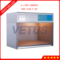 T60 Color Matching Cabinet Color Assessment Cabinet With 4 Light Sources D65 TL84 F UV Color Assessment Light Box