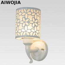 купить 1 head fashion wall lamp brief modern led mirror wall light corridor bedroom living room bedside lamp E27 iron по цене 1253.12 рублей