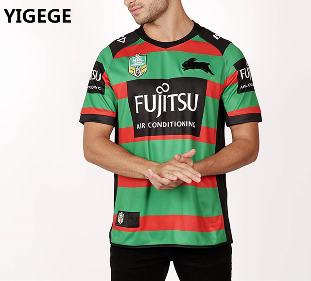 212bb54462c YIGEGE 2018 South Sydney Rabbitohs Home rugby Jerseys NRL National Rugby  League shirt nrl jersey Australia shirts s-3xl