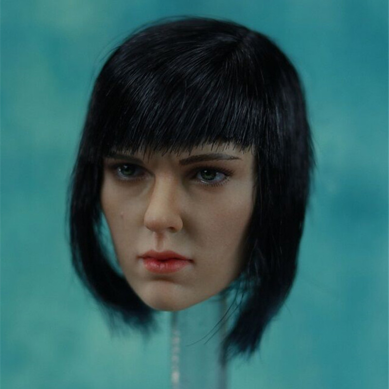 1/6 Scale Kusanagi Motoko Head Sculpt Scarlett Ghost in the Shell for 12 Inches Female Bodies Figures Models Toys female head teachers administrative challenges in schools in kenya