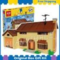2575 шт. Новый Симпсоны Дом 16005 DIY Модель Строительство Комплект Блоки Подарки Детские Игрушки, Совместимые с Lego