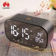 Huawei Alarm Clock Bluetooth Speaker FM Radio Portable Wireless Loudspeakers Stereo Music TF Speakers For Bedroom Weather