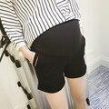 2016 ropa de maternidad de moda de verano pantalones cortos de mezclilla soportar pantalones capris vientre embarazo wear shorts