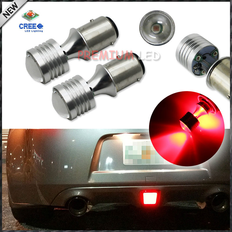 iJDM Super Brighter Red CAN-bus Error Free  BAZ15d 566 150 20W LED Bulbs For Brake Backup Tail Stop Lights 2pcs brand new high quality superb error free 5050 smd 360 degrees led backup reverse light bulbs t15 for jeep grand cherokee